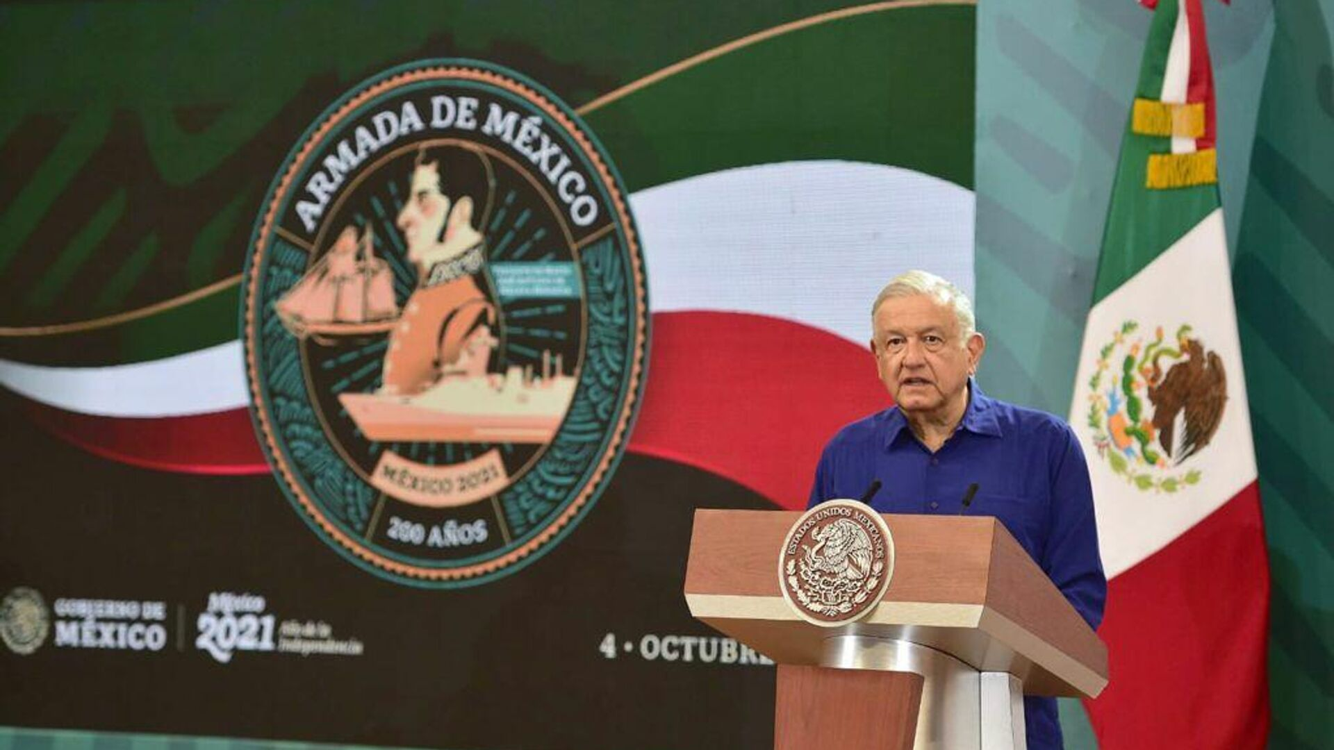 Andrés Manuel López Obrador, presidente de México - Sputnik Mundo, 1920, 04.10.2021