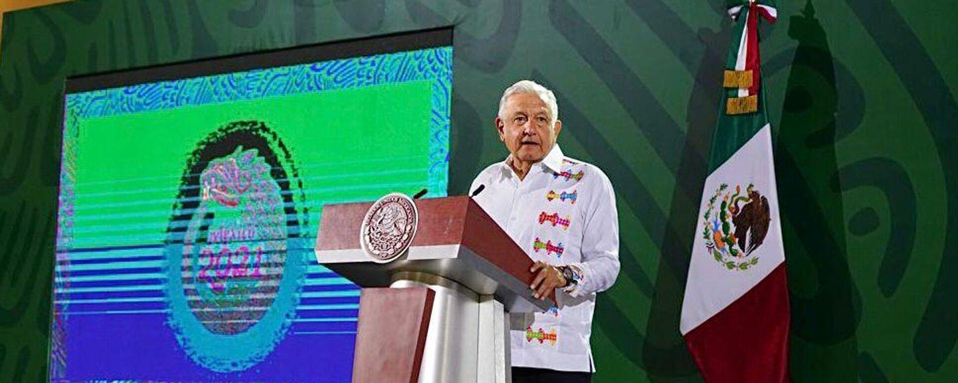 Andrés Manuel López Obrador, presidente de México - Sputnik Mundo, 1920, 05.10.2021