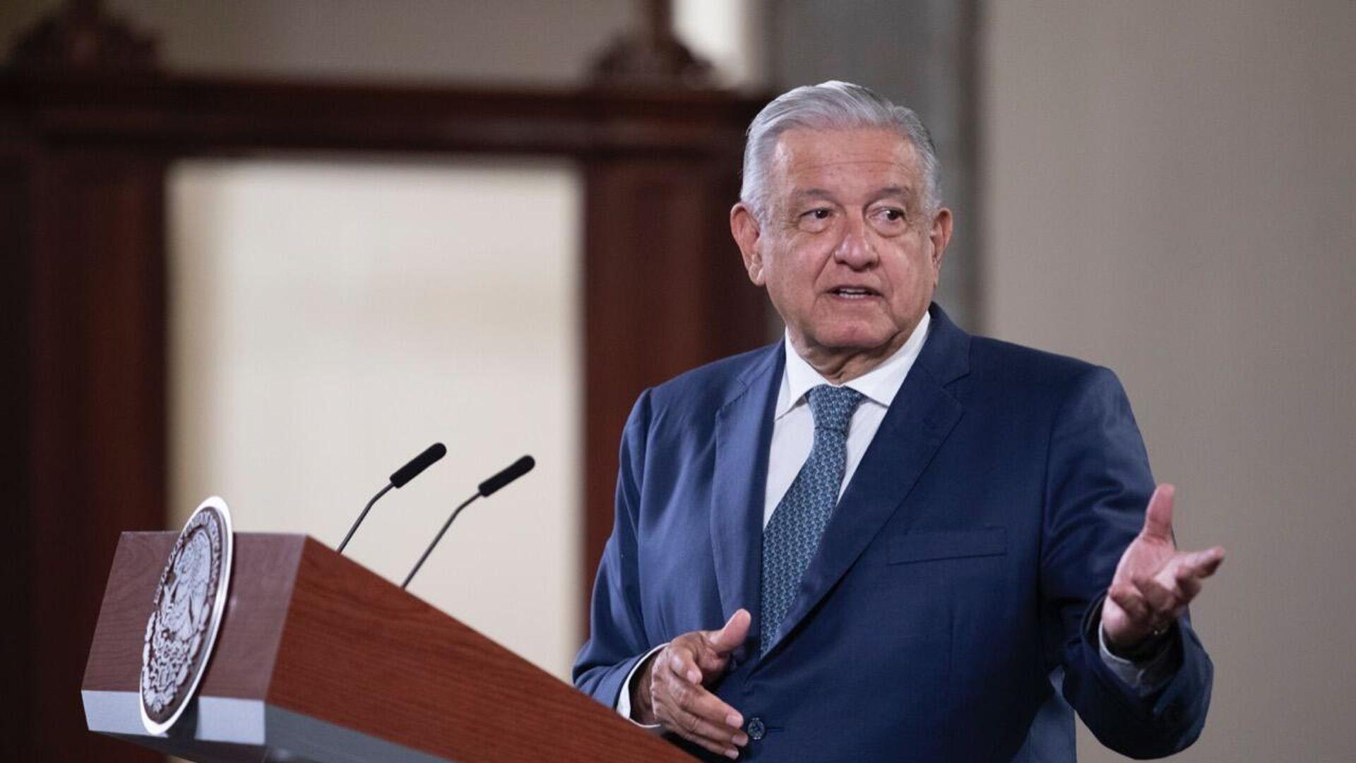 Andrés Manuel López Obrador, presidente de México  - Sputnik Mundo, 1920, 06.10.2021
