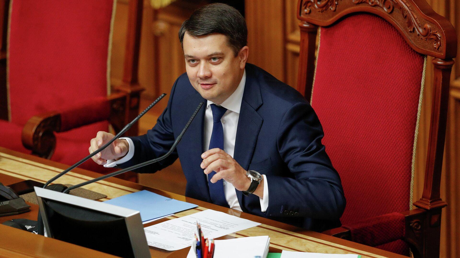 Dmitri Razumkov, presidente de la Rada Suprema (Parlamento) de Ucrania  - Sputnik Mundo, 1920, 07.10.2021