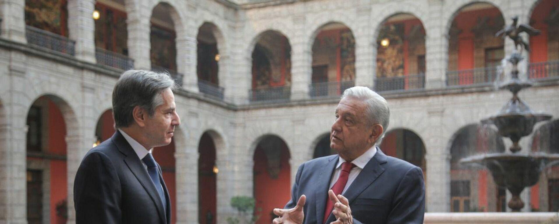 Antony Blinken  y Andrés Manuel López Obrador  - Sputnik Mundo, 1920, 08.10.2021