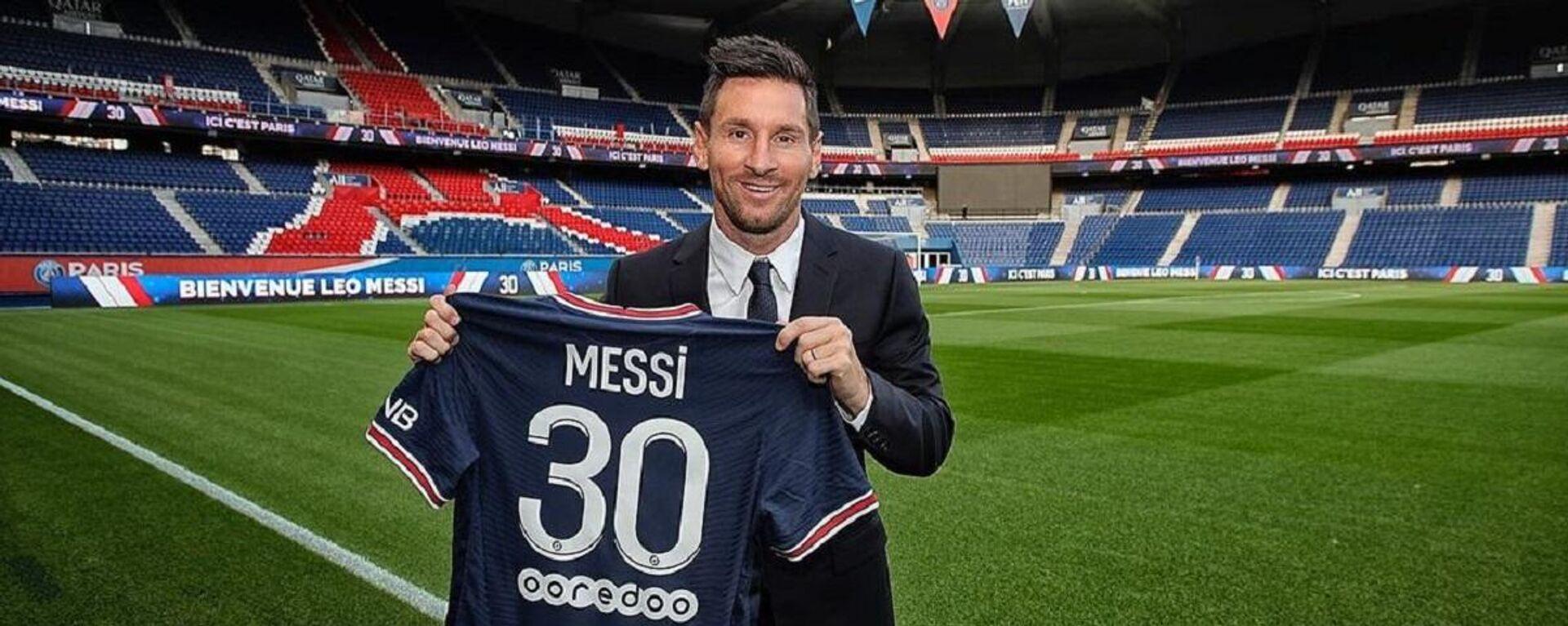 El futbolista argentino Lionel Messi - Sputnik Mundo, 1920, 09.10.2021