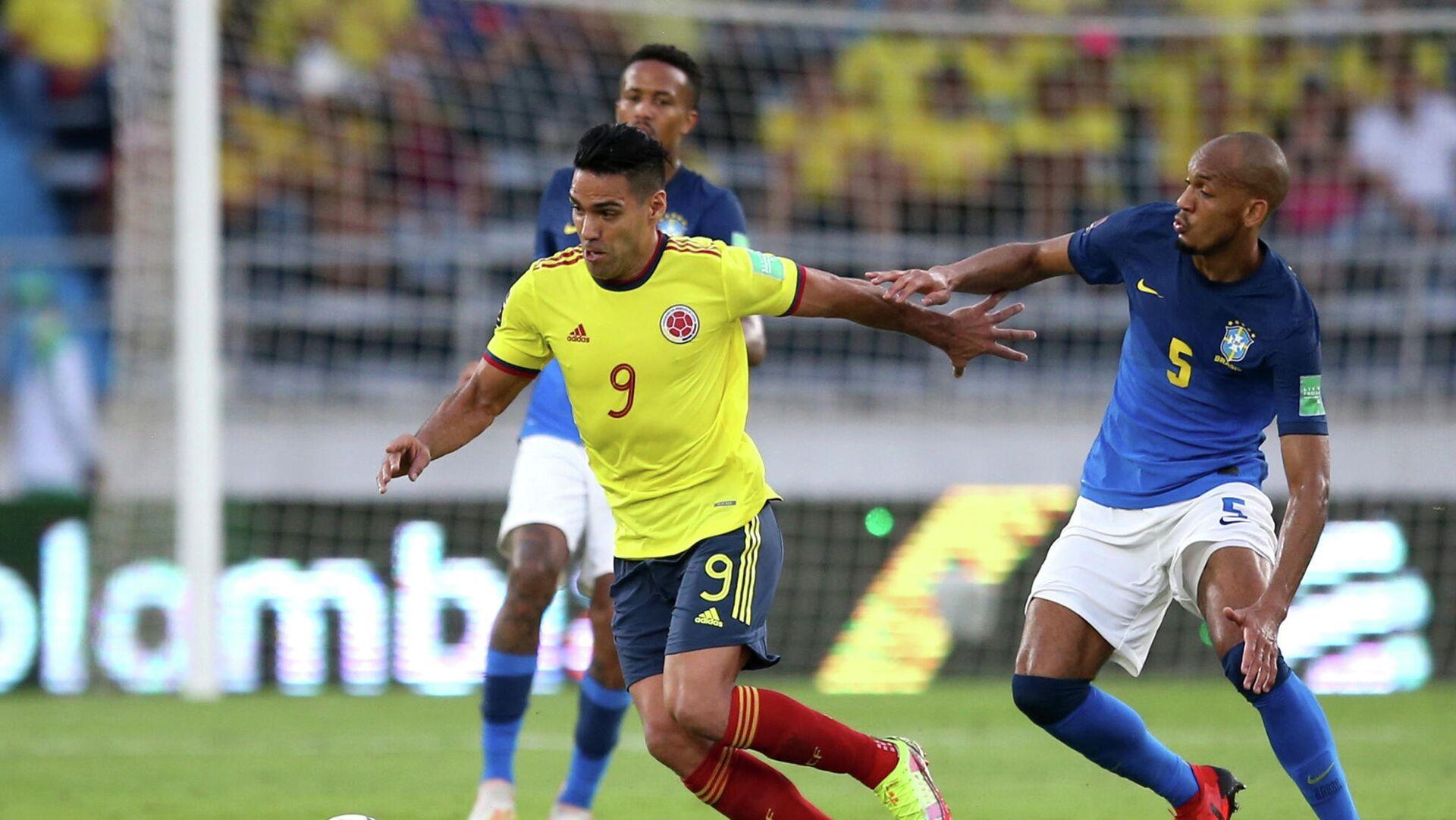 Partido de fútbol entre Colombia y Brasil en las Eliminatorias a Catar 2022 - Sputnik Mundo, 1920, 10.10.2021