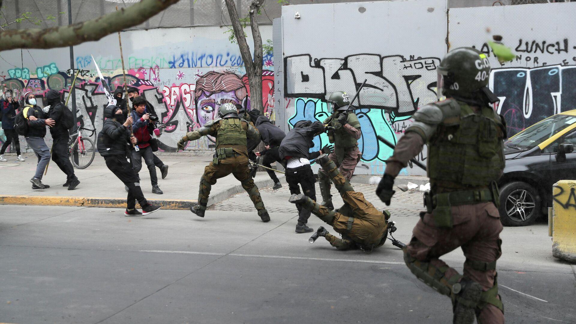 Protestas en Chile - Sputnik Mundo, 1920, 11.10.2021