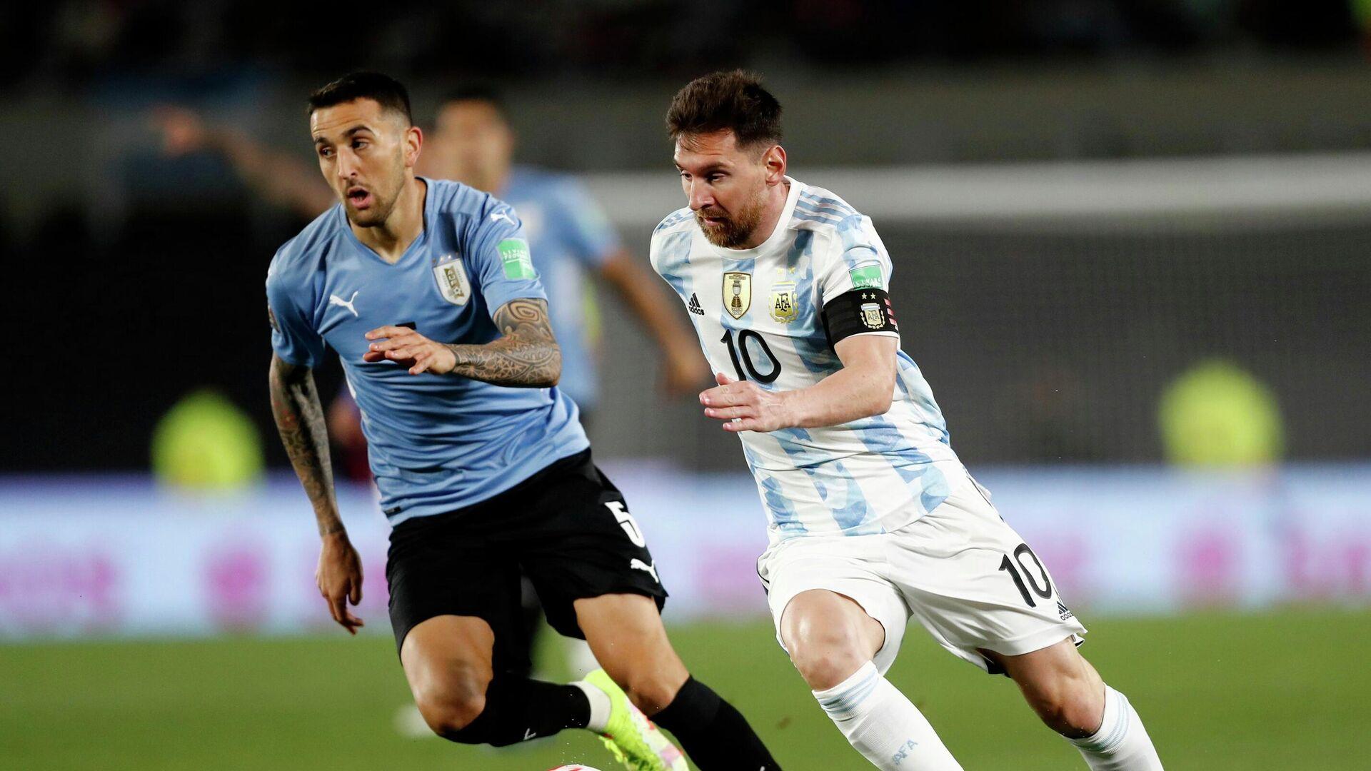 Partido de fútbol entre Argentina y Uruguay en las Eliminatorias a Catar 2022 - Sputnik Mundo, 1920, 11.10.2021