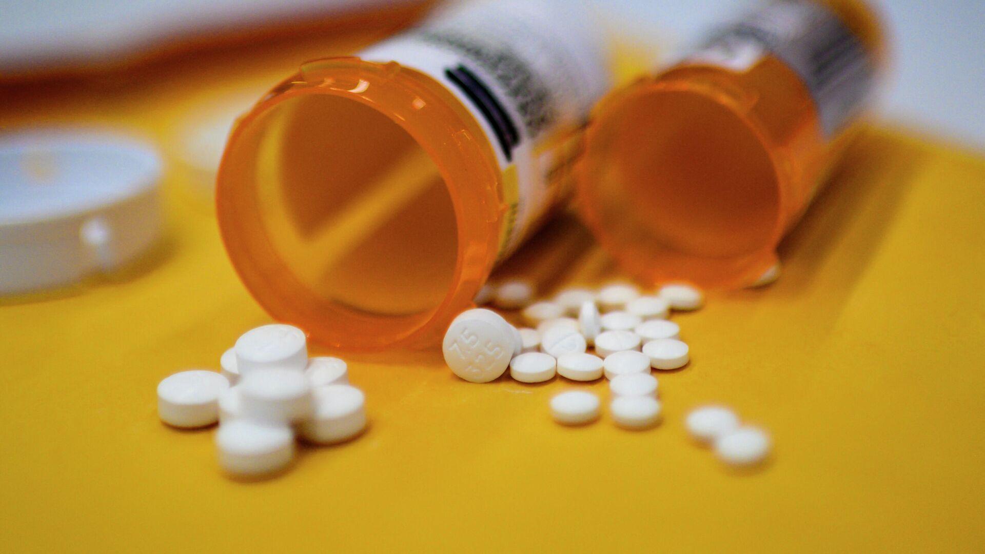 Pastillas de Oxycodon, un opioide recetado en Estados Unidos (referencial)  - Sputnik Mundo, 1920, 13.10.2021