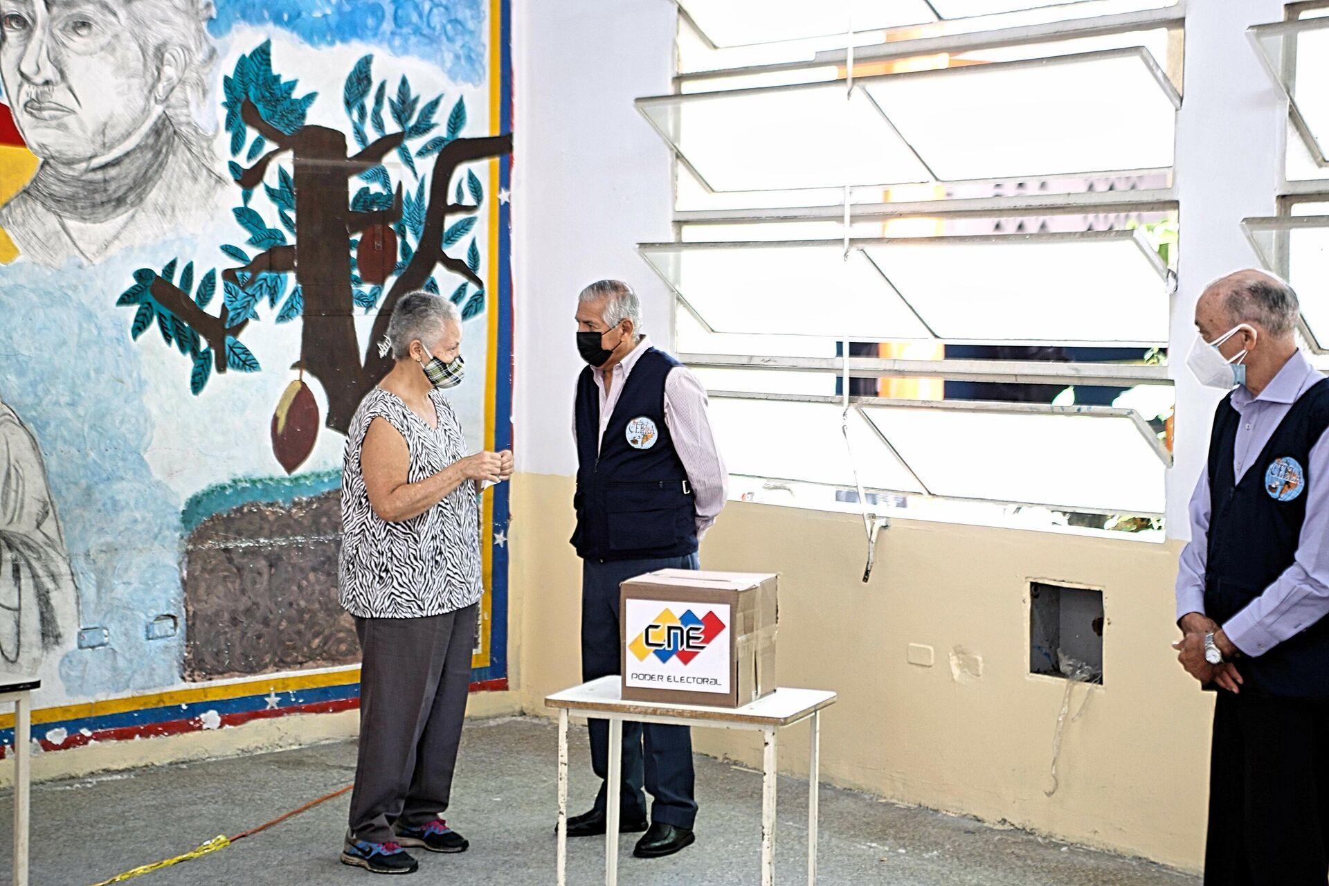 Expertos electorales de Latinoamérica presencian simulacro de votación en Venezuela - Sputnik Mundo, 1920, 11.10.2021