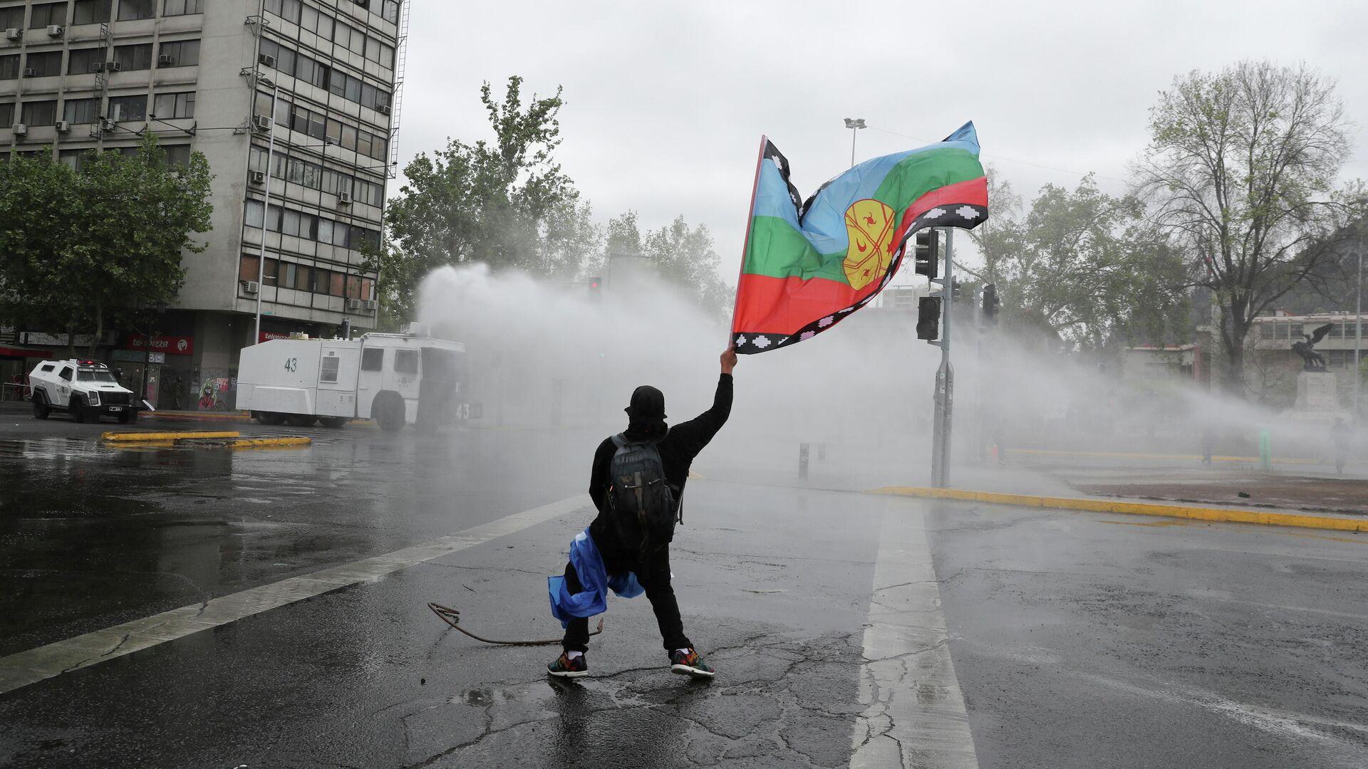 Represión Marcha de la Resistencia Indígena en Santiago de Chile - Sputnik Mundo, 1920, 11.10.2021