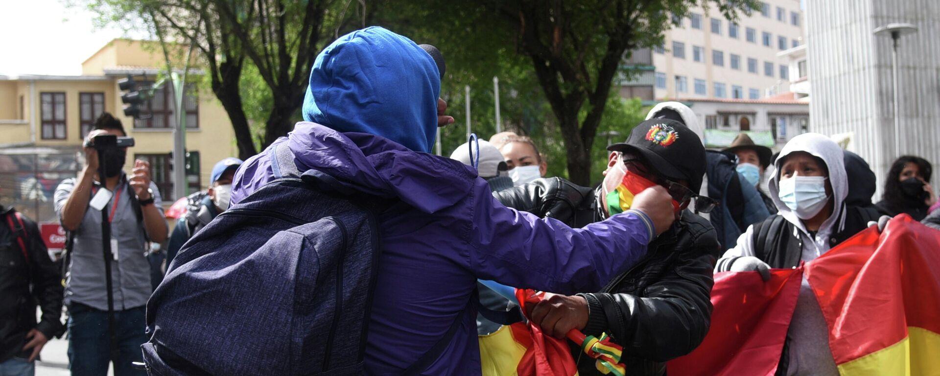 Choques entre manifestantes en Bolivia - Sputnik Mundo, 1920, 12.10.2021