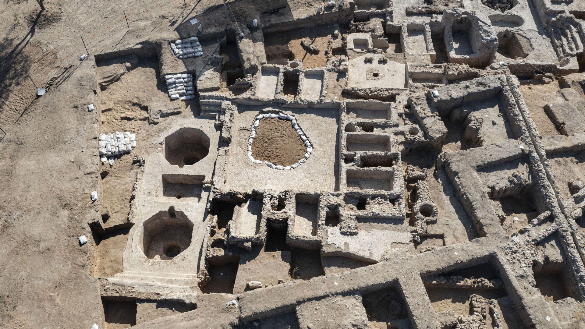 Древний винодельческий комплекс, построенный примерно 1500 лет назад в Явне, Израиль - Sputnik Mundo, 1920, 13.10.2021
