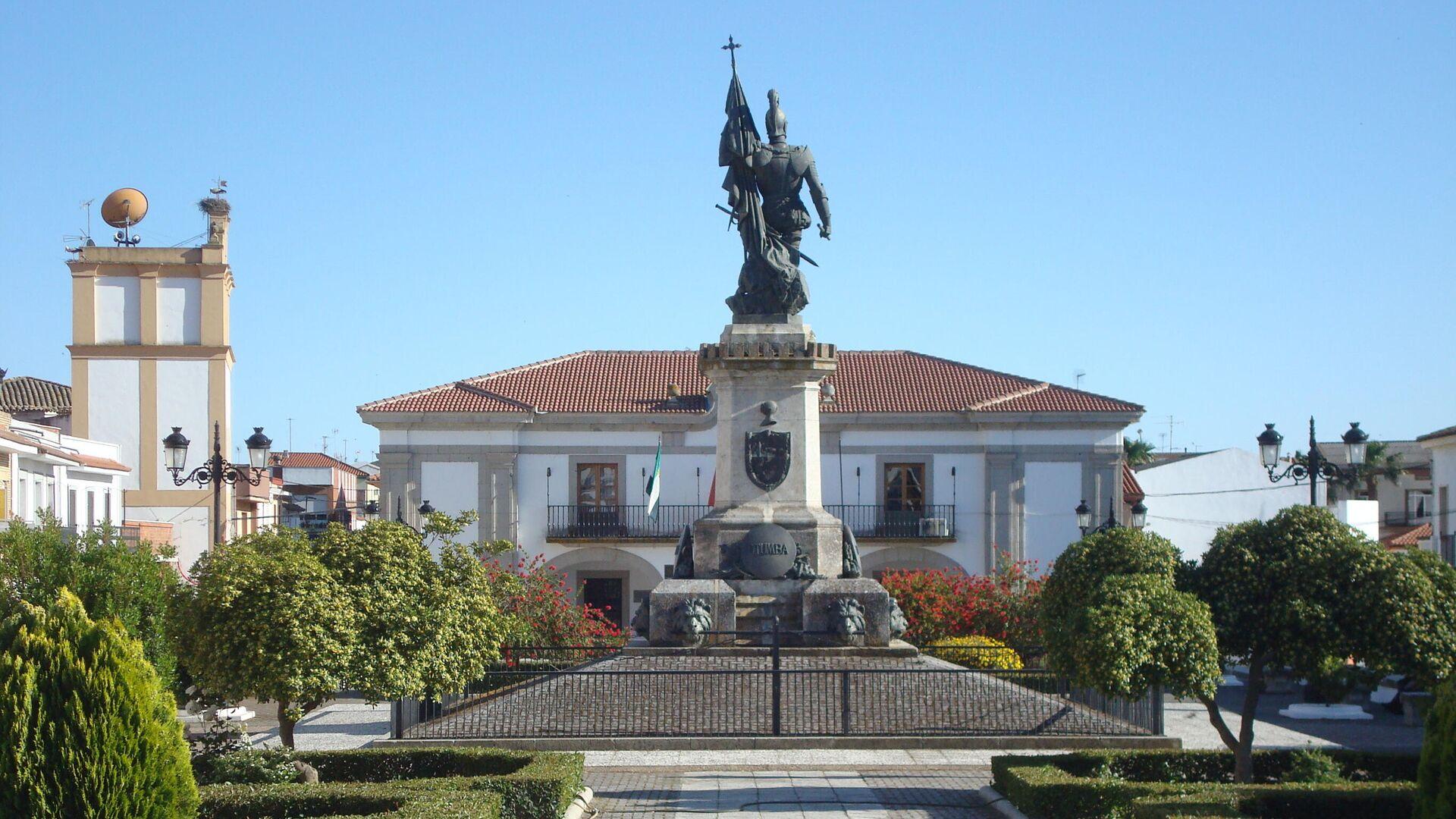 Monumento a Hernán Cortés en Medellín (Badajoz) - Sputnik Mundo, 1920, 13.10.2021