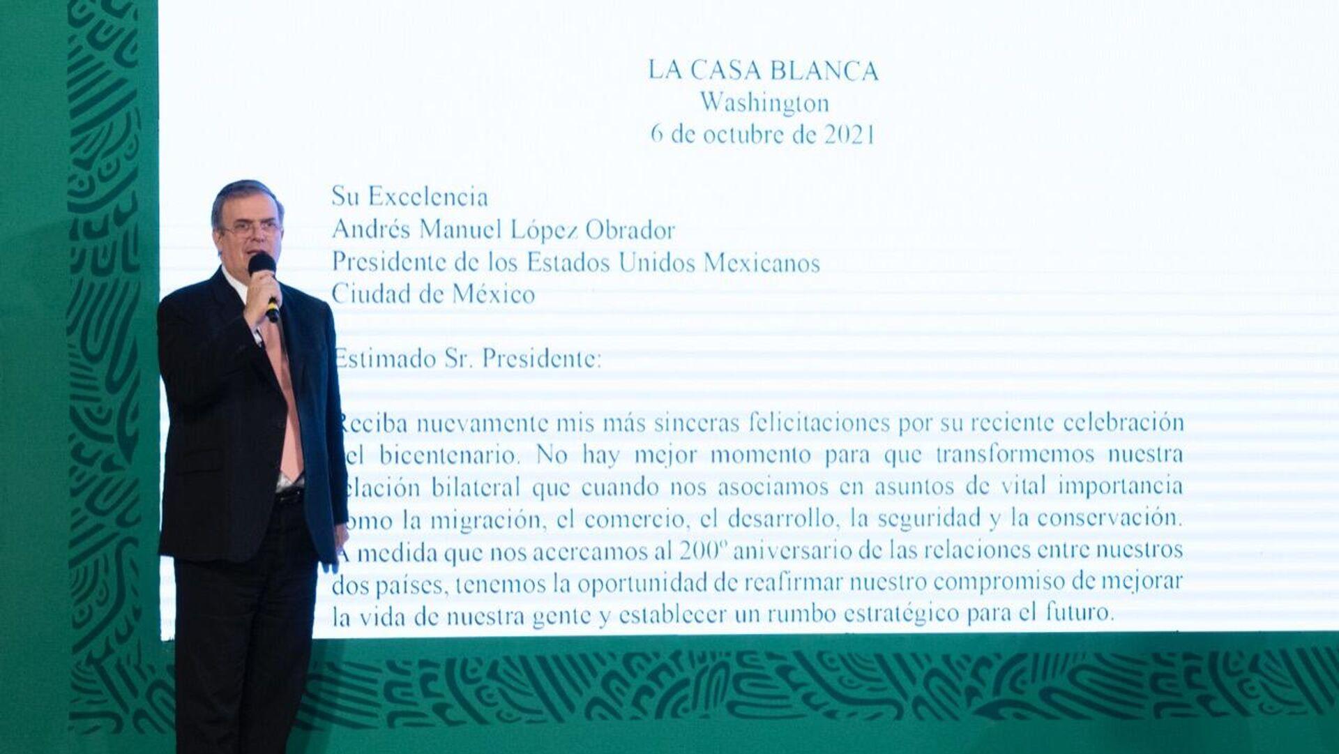 Marcelo Ebrard, secretario de Relaciones Exteriores de México - Sputnik Mundo, 1920, 14.10.2021