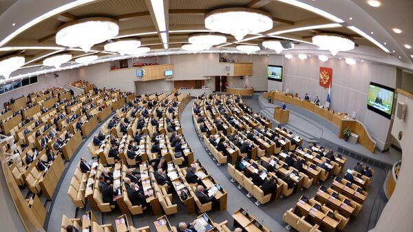 Депутаты на пленарном заседании Государственной Думы РФ - Sputnik Mundo