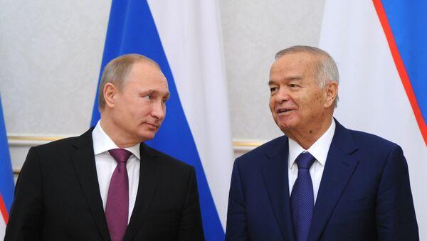 Presidente de Rusia, Vladímir Putin y presidente de Uzbekistán, Islam Karímov - Sputnik Mundo