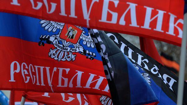 Bandera de la República popular de Donetsk - Sputnik Mundo