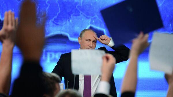 Rueda de prensa anual de Vladímir Putin - Sputnik Mundo