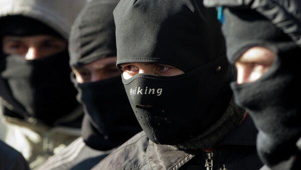 Activistas del movimiento Sector Derecho (Pravy Sektor) - Sputnik Mundo