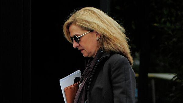 Princesa Cristina se acerca a su oficina en Barcelona - Sputnik Mundo