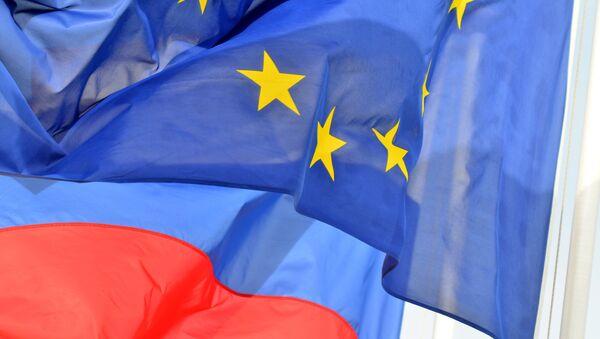 Banderas de Rusia y la Unión Europea - Sputnik Mundo