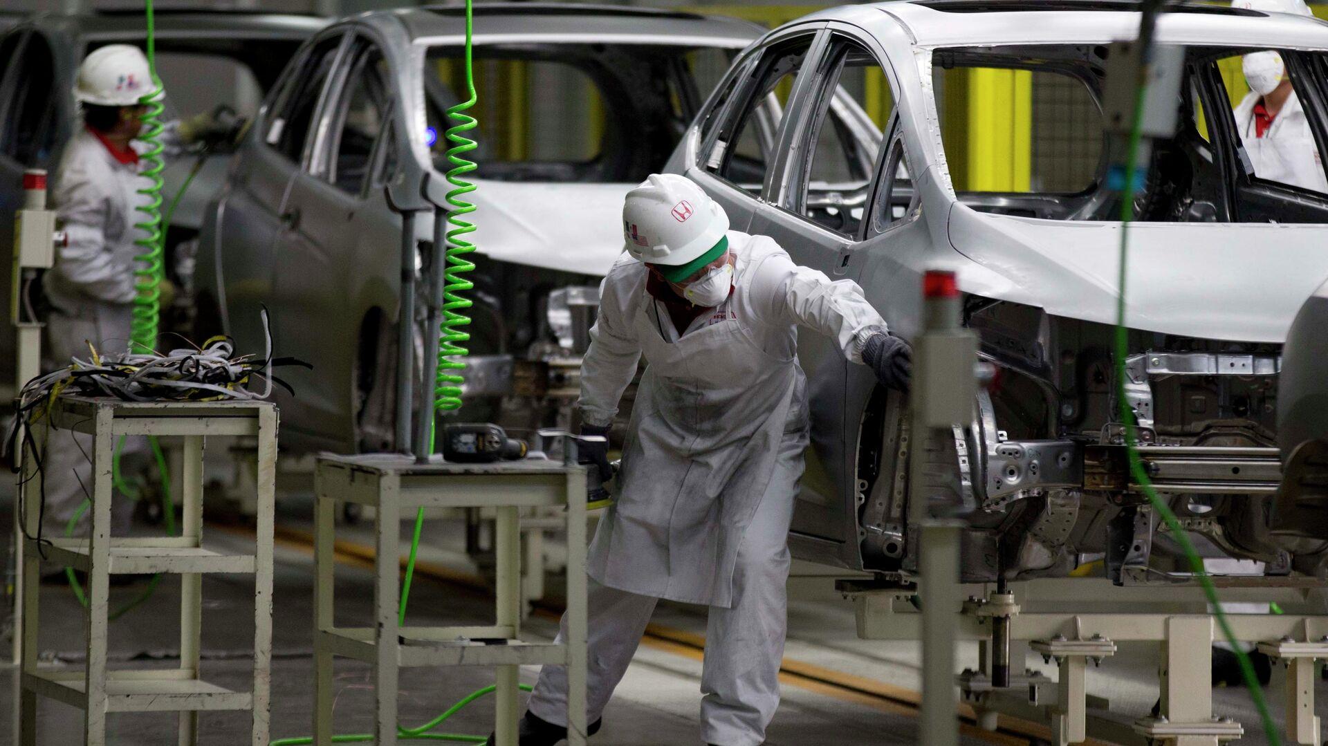 Fábrica de Honda en Celaya, México - Sputnik Mundo, 1920, 30.03.2021