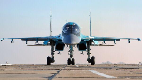 Cazabombardero táctico Su-34 - Sputnik Mundo