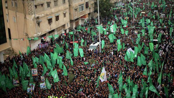 Seguidores de Hamás en el mitin del 27 aniversario de la fundación de movimiento - Sputnik Mundo