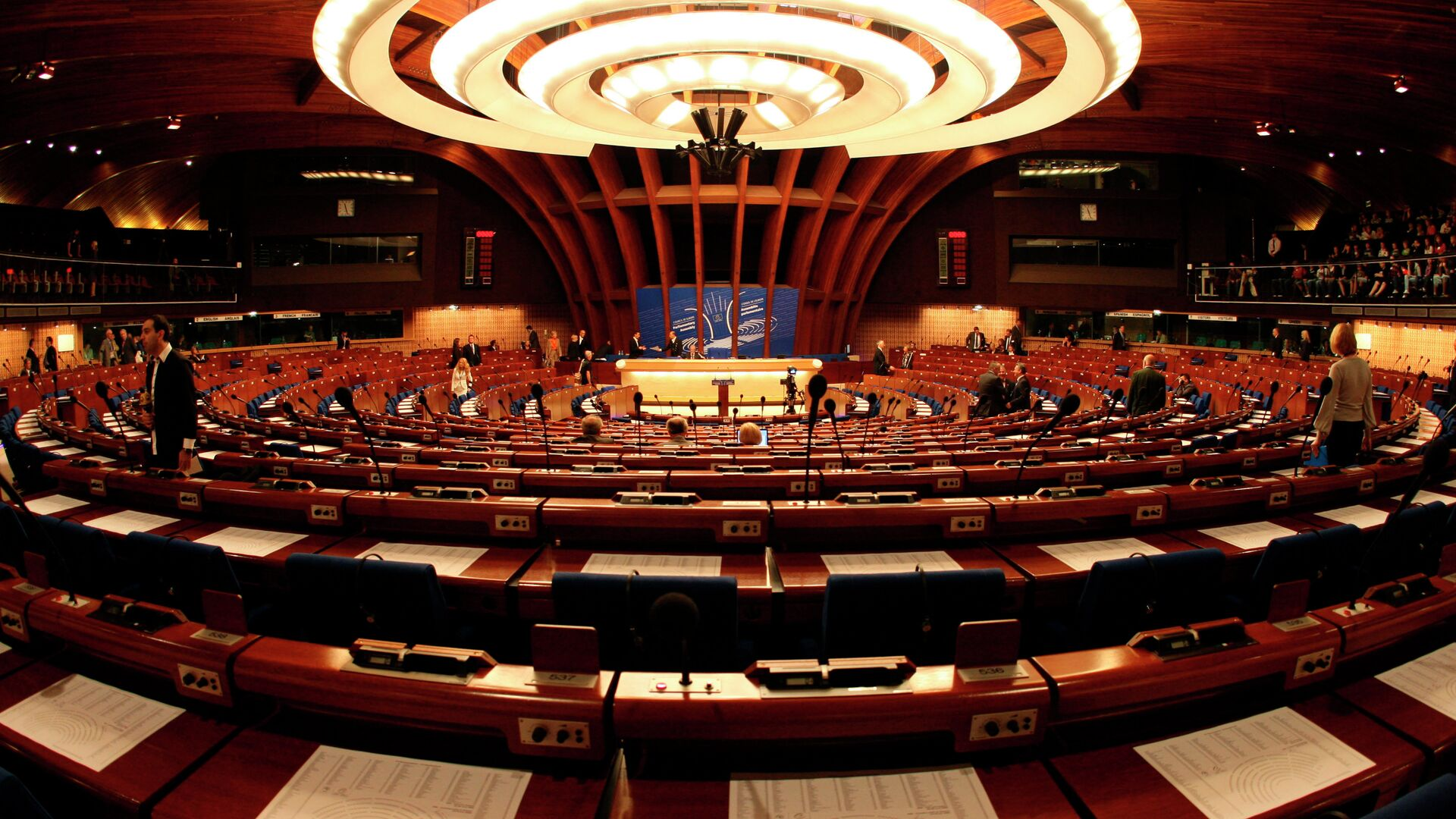 General view of the plenary room of the Council of Europe in Strasbourg, eastern France - Sputnik Mundo, 1920, 23.09.2021