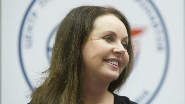 English classical crossover soprano, actress, songwriter and dancer Sarah Brightman meets with top managers and employees of the Gagarin Cosmonaut Training Center - Sputnik Mundo