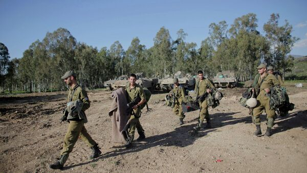 Soldados israelíes cerca de la frontera con el Líbano - Sputnik Mundo