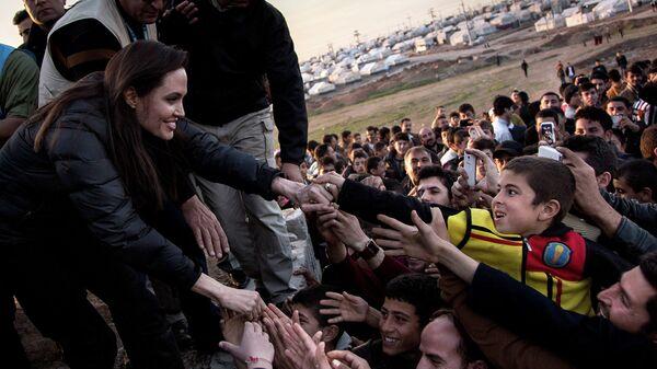 UNHCR Special Envoy Angelina Jolie in Iraq  - Sputnik Mundo