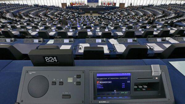 A general view shows the plenary room of the European Parliament - Sputnik Mundo