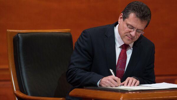 Maros Sefcovic, vicepresidente de la Comisión Europea para la Unión Energética - Sputnik Mundo