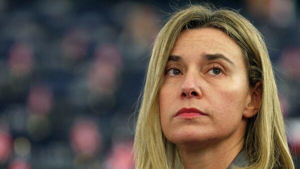 Federica Mogherini, alta representante para Asuntos Exteriores de UE - Sputnik Mundo