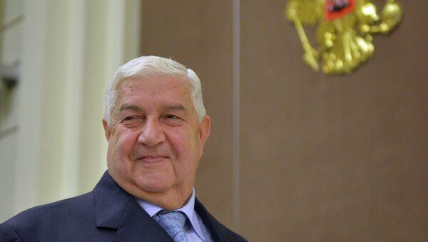 Walid Muallem, ministro de Asuntos Exteriores de Siria - Sputnik Mundo
