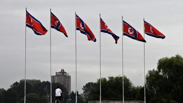 Banderas de Corea del Norte - Sputnik Mundo