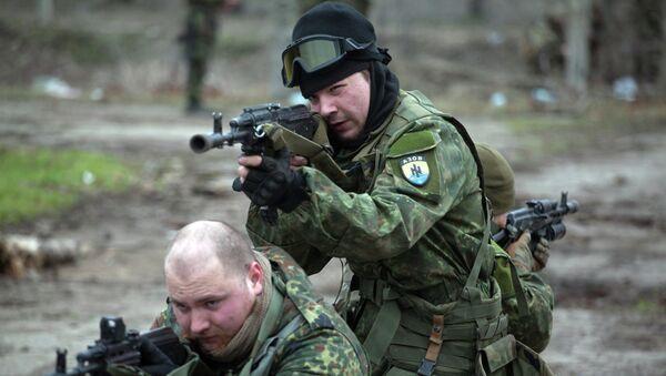 Efectivos del batallón Azov (archivo) - Sputnik Mundo