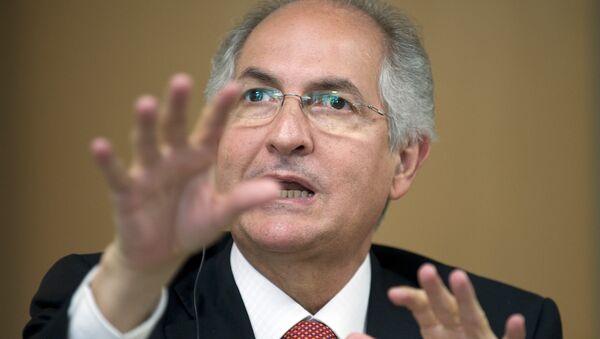 Caracas Mayor Antonio Ledezma speaks at the Council of the Americas in Washington on July 20, 2009 - Sputnik Mundo