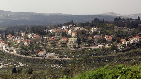 A picture shows a partial view of the Israeli settlement of Qadumim (Kedumim), near the Palestinian town of Nablus, in the Israeli-occupied West Bank, on February 9, 2015 - Sputnik Mundo