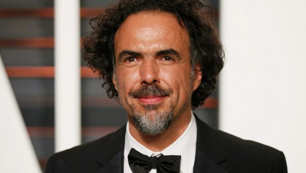 Alejandro G. Inarritu, winner of the acadmey awards for Best Original Screenplay, Best Director, and Best Motion Picture, for Birdman, arrives at the 2015 Vanity Fair Oscar Party in Beverly Hills, California February 23, 2015. - Sputnik Mundo