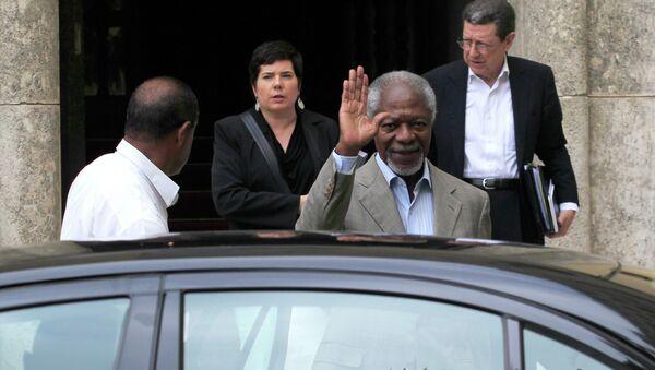 Former U.N. Secretary-General Kofi Annan - Sputnik Mundo