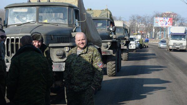 Las milicias de Donbás afirman haber terminado la retirada de armas pesadas - Sputnik Mundo