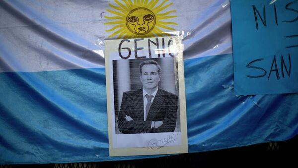 Retrato del fiscal Alberto Nisman - Sputnik Mundo