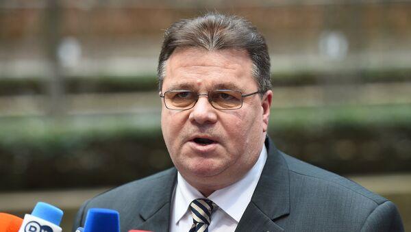 Linas Antanas Linkevicius, canciller de Lituania - Sputnik Mundo