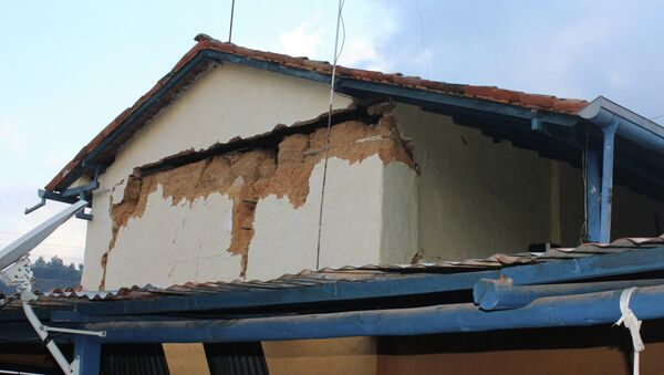 Damage caused by an earthquake is seen on a house in Betania village (Colombia) in Santander March 10, 2015 - Sputnik Mundo
