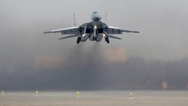 Взлет боевого истребителя Миг-29СМТ - Sputnik Mundo