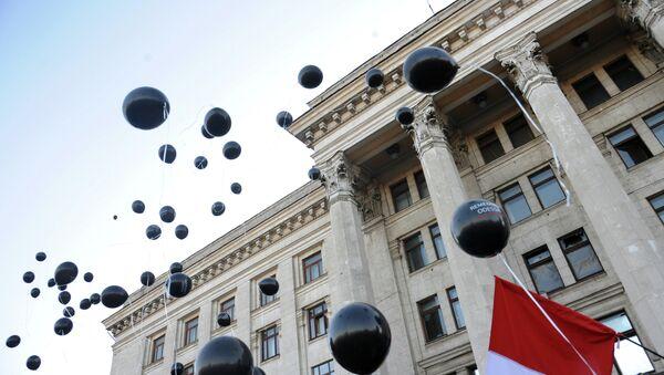 Траурные мероприятия у Дома профсоюзов в Одессе - Sputnik Mundo