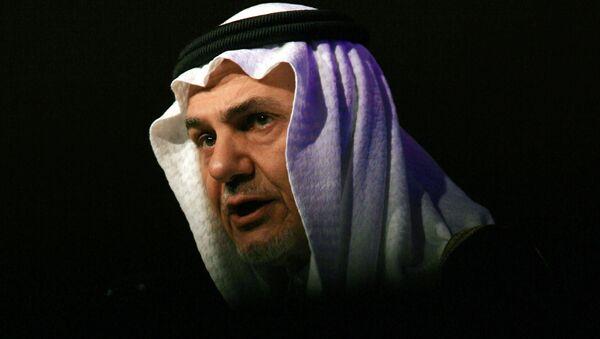 Saudi Prince Turki al-Faisal, former ambassador to the United States, addresses the Jeddah Economic Forum in the Red Sea port city of Jeddah on February 24, 2008 - Sputnik Mundo