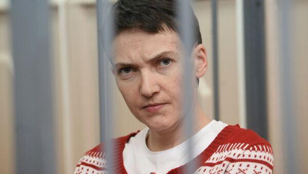 Nadezhda Sávchenko durante la audiencia (archivo) - Sputnik Mundo