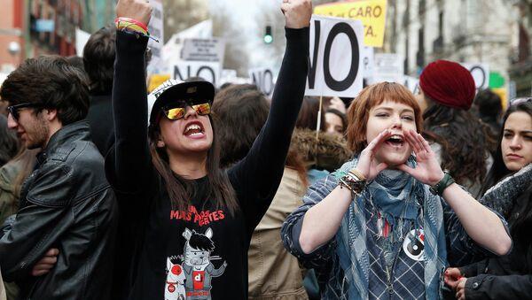 Huelga estudiantil nacional en Madrid (Archivo) - Sputnik Mundo