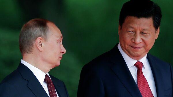Presidente de Rusia, Vladímir Putin y presidente de la República Popular China, Xi Jinping - Sputnik Mundo